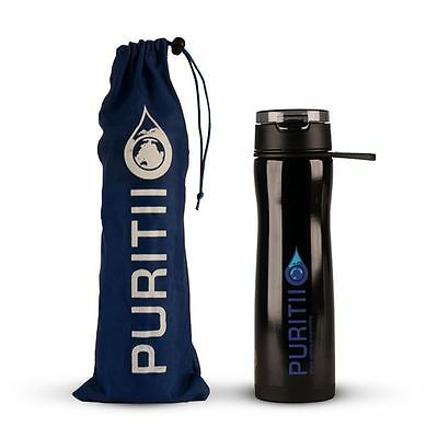 Brand New Original Puritii™ System 2 Stainless Steel water purificatio bottle
