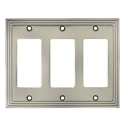 Liberty W10251-SN Satin NIckel Stamped Single GFCI Decora Cover Wall Plate5Pack