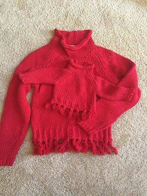 My Twinn Doll Sweater Set Matching Red Doll And Girls XL Two Piece Lot