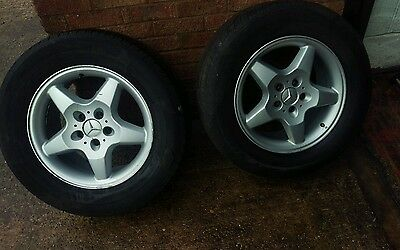 Genuine Mercedes Ml W163 Alloy Wheels With Tyres R 17, 8.5J