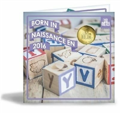 Canada 2016 - Born in Canada Baby Gift Uncirculated Set - Special Edition Loonie