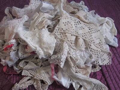 Large Selection of Vintage Crochet/Lace Trimmings Projects