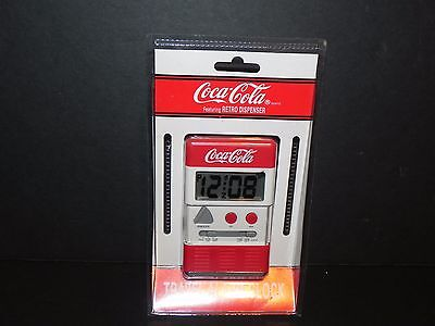 COCA~COLA TRAVEL ALARM CLOCK from 1998 ~ New - FREE SHIPPING!   No. 4516C