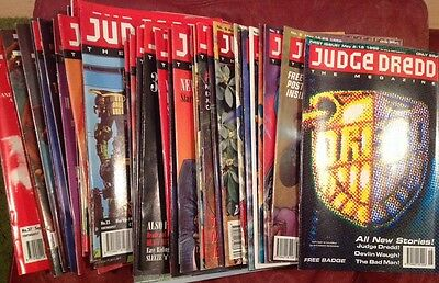34 Assorted Judge Dredd The Megazine Fortnightly Issues