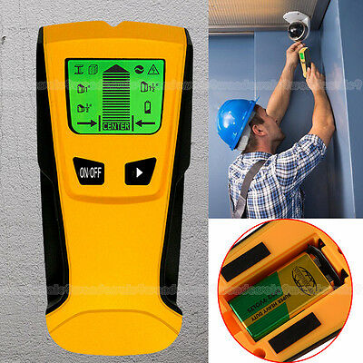 UK Stock With Battery 3 in 1 Stud Center Finder Metal AC Live Wire Detector NEW