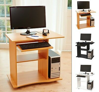 PC Computer Desk Keyboard Home Office Workstation Black, White, Beech Kingpower