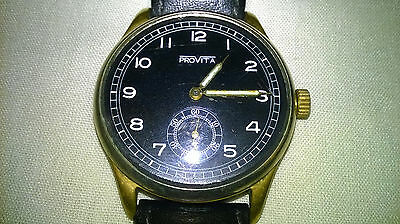 Provita watch with flurescent hands possibly military