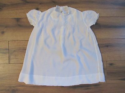 Hand Made Philippines ~ Baby Girl Vintage Hand Embroidered White Dress ~ Size 6m
