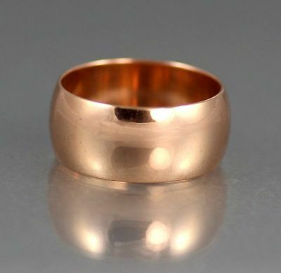 Men's Gents Antique Victorian Solid 9Ct Rose Gold Wedding Band / Ring 8.9g