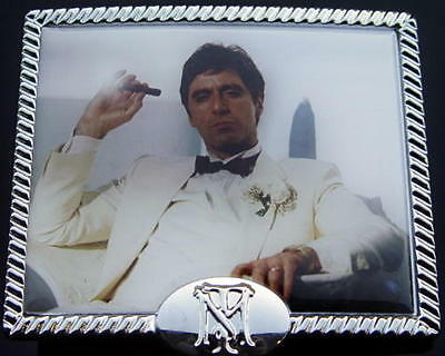 SCARFACE 1983 Gangster Movie Al Pacino TONY MONTANA White Suit BELT BUCKLE New