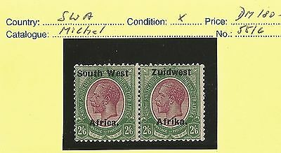 South West Africa 1924 KGV / Michel No 55/6. MN