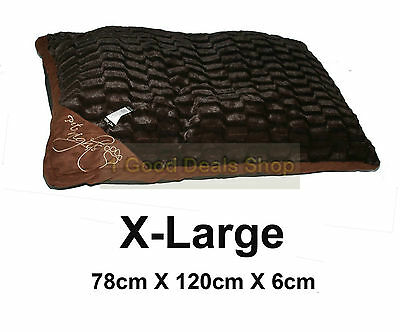 Large Washable Pet Dog Puppy Cat Bed Soft Warm Basket Pillow Cushion Check Brown
