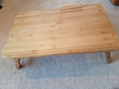 New wooden laptop newspaper tray table desk with adjustable stand
