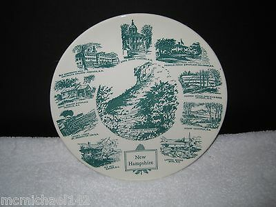 Souvenir Historical Plate NEW HAMPSHIRE  Lith O Sketch Kettlesprings 1960