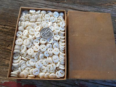 10 Gross Vintage Mother Of Pearl Buttons 10 Gross  Nos 14 L   2 Hole Fisheye