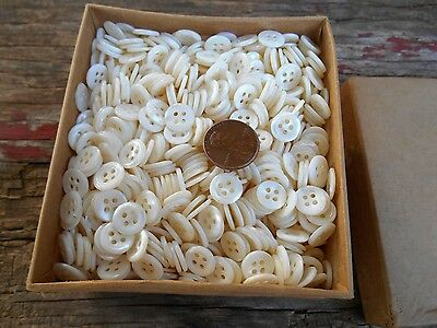 10 Gross  Vintage Mother Of Pearl Buttons 10 Gross  Nos 16 L   4 Hole