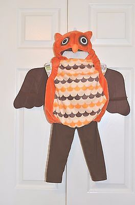 Boo Babies 2 Pc Jumpsuit & Hat Childs Owl Halloween Costume Size 9 - 18 Months