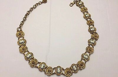 Vintage Cameo Chain Belt EXP Made In Korea 80s