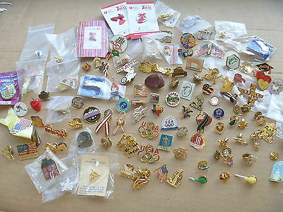 Lapel Pins 115 Flags Souvenir Angels Animals Ribbons Olympics Collection Variety