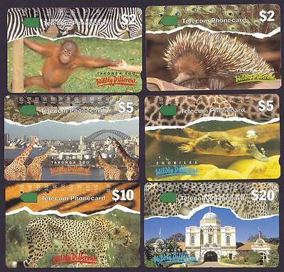 *PHONECARDS.USED.NEW SOUTH WALES.SET of SIX.*