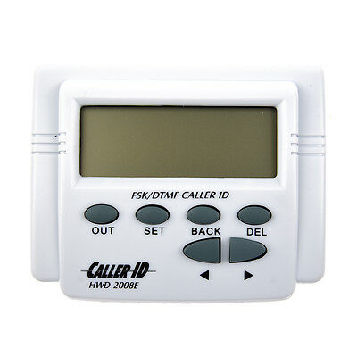 2X(White handset display DTMF FSK Caller ID Box with Call History Q4) R8B0