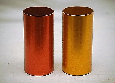 Vintage Perma Hues Colorful Aluminum Metal Cups Tumblers Glass Edgerton Ohio MCM