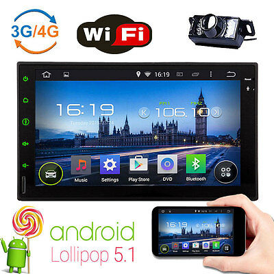 """7"""" Android 5.1 Car Autoradio 4-Core Double 2Din Stereo Head Unit GPS Navigation"""