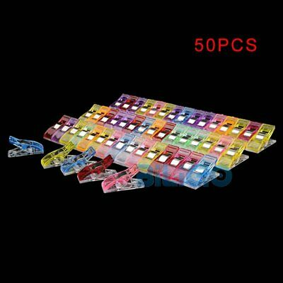50Pcs Plastic Pack Wonder Clips For Quilting Sewing Knitting Crochet Craft Tools
