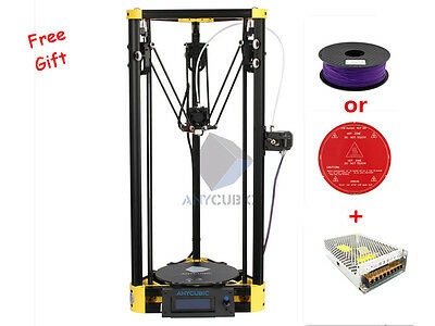 Anycubic Kossel 3D Printer Pulley Version Unassemble Large Printing Size Yellow