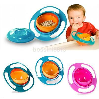 Universal Baby Eating Bowl Baby Feeding Rotate Safety Children Bowl Baby Gift US