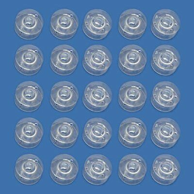 10x Clear Plastic Sewing Machine Bobbins Spools Fits Singer Brother Janome UK