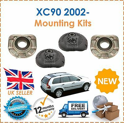 For Volvo XC90 2002- 2 Front Upper & 2 Lower Shocker Top Strut Mounting Kits NEW
