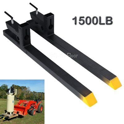 "30"" 1500lbs capacity Clamp on Pallet Forks Loader Bucket Skidsteer Tractor chain"