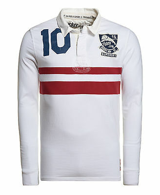 New Mens Superdry Factory Second World Legends Rugby Shirt Optic Mix