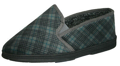 Men's Dunlop Wide Fit Slip On Elasticated Twin Gusset Slippers Sizes 6 - 8