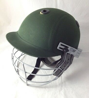 Men's C & D Albion Green Cricket Helmet With Face Grill