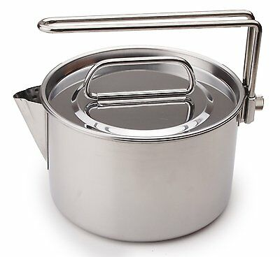 New Captain Stag M-7296 Camping Stainless Steel Kettle Cooker 14cm 1.3L Japan