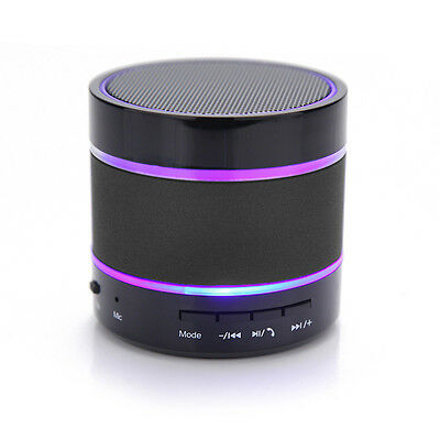 New Mini Bluetooth Wireless Speaker Support FM Radio with LED Dancing Light .
