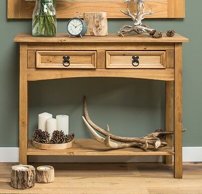 Small Console Table Storage Unit Antique Hall Dressing Desk Table Side End Wood