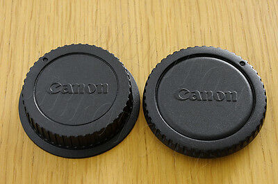 Replacement Rear Lens Cap & Body Cap To Fit Canon EOS Camera Body & EF Lenses