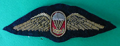 SOUTH AFRICA NAVY PARACHUTE FREE FALL INSTRUCTOR WINGS bullion wire PARA WINGS