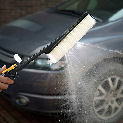 Car Wash Cleaning Brush Water Flow Foam Bottle Retractable Long Handle
