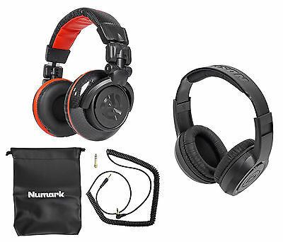 Numark Red Wave Carbon Full-Range Mixing DJ Headphones+Free Samson Headphones !