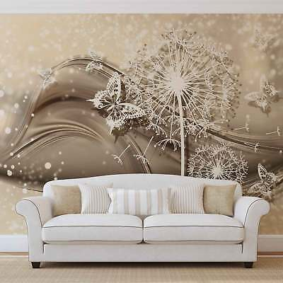 WALL MURAL PHOTO WALLPAPER XXL White Flowers And Butterflies (3430WS)