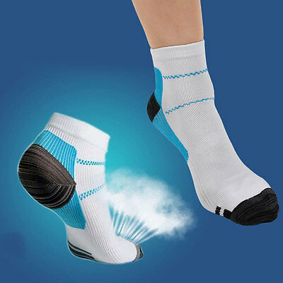 GYM Massage Sport Foot Ankle Pain Relief Socks Hurt Nylon Feet Therapy