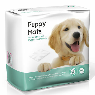 Super Absorbent Puppy Training Pads Puppy Mats - 60cm x 60cm - Pack of 20