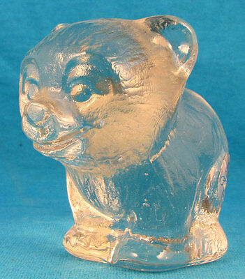 Goebel glass bear cub FREE SHIPPING West Germany Old vintage 1970's Excellent