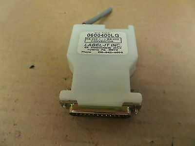 Label-IT INC Label Systems Convertor 0600400LG RS-232 < - > RS-422 Used