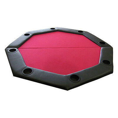 JP Commerce Padded Octagon Folding Poker Table Top Red