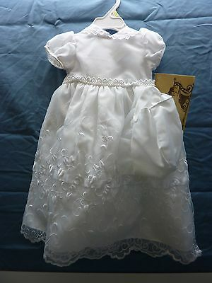 Lauren Madison baby girl Christening Baptism Newborn Embroidered Gown # 1944